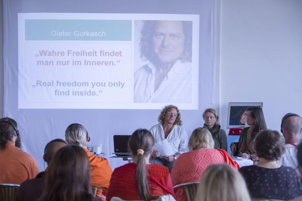 Internationaler Gefängnisyoga-Workshop am 3.10.2014 mit Dieter Gurkasch, Katrin Funke und Livia Gurkasch
